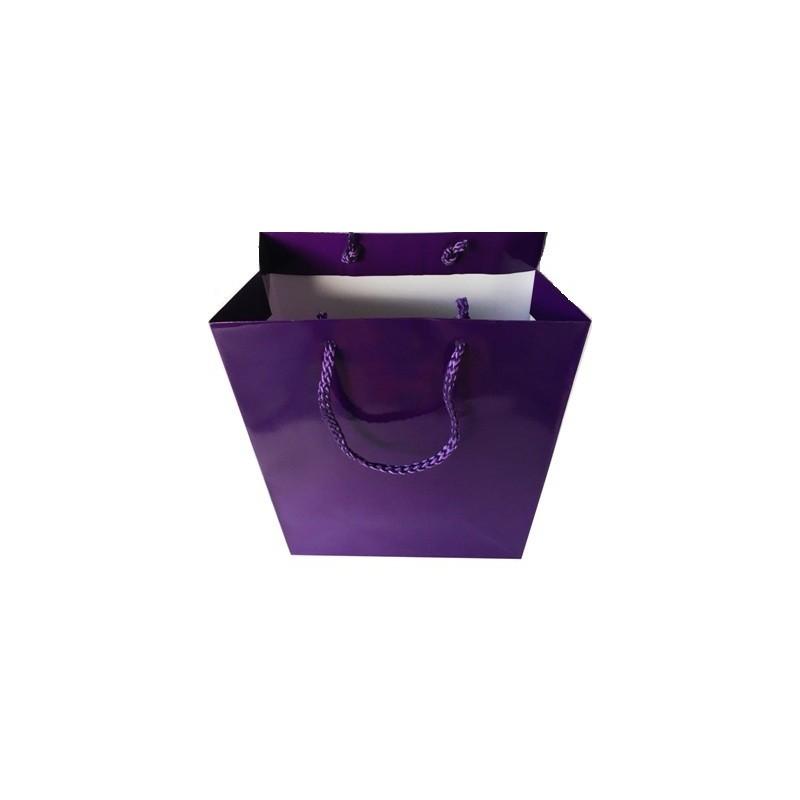 Sac violet gloss pour 2 flacons de savon