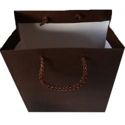 ~Sac chocolat mat pour 2 flacons