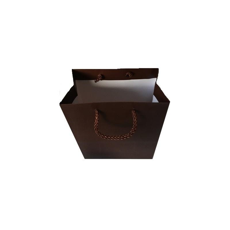 Sac chocolat mat pour 2 flacons 500 ou 1000ml