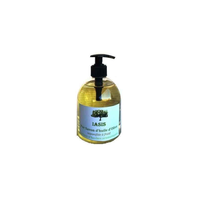 Pur savon d'huile d'olive aux Herbes 500ml