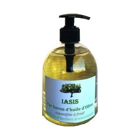 Savon à l'huile d'olive parfum d'aromates 500ml
