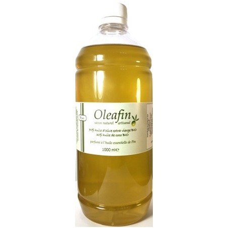 Savon 70% Olive 30% Coco BIO parfum Pin 1L