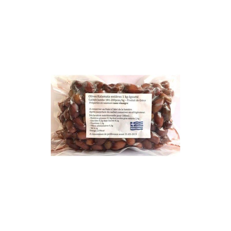 Olives Kalamata sans vinaigre 1kg