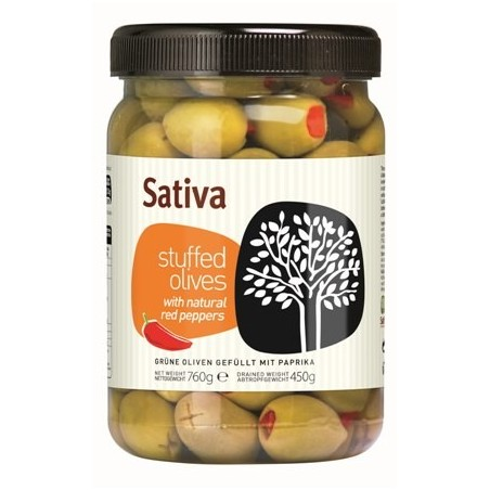 Olives Halkidikis farcies au poivron rouge 450g